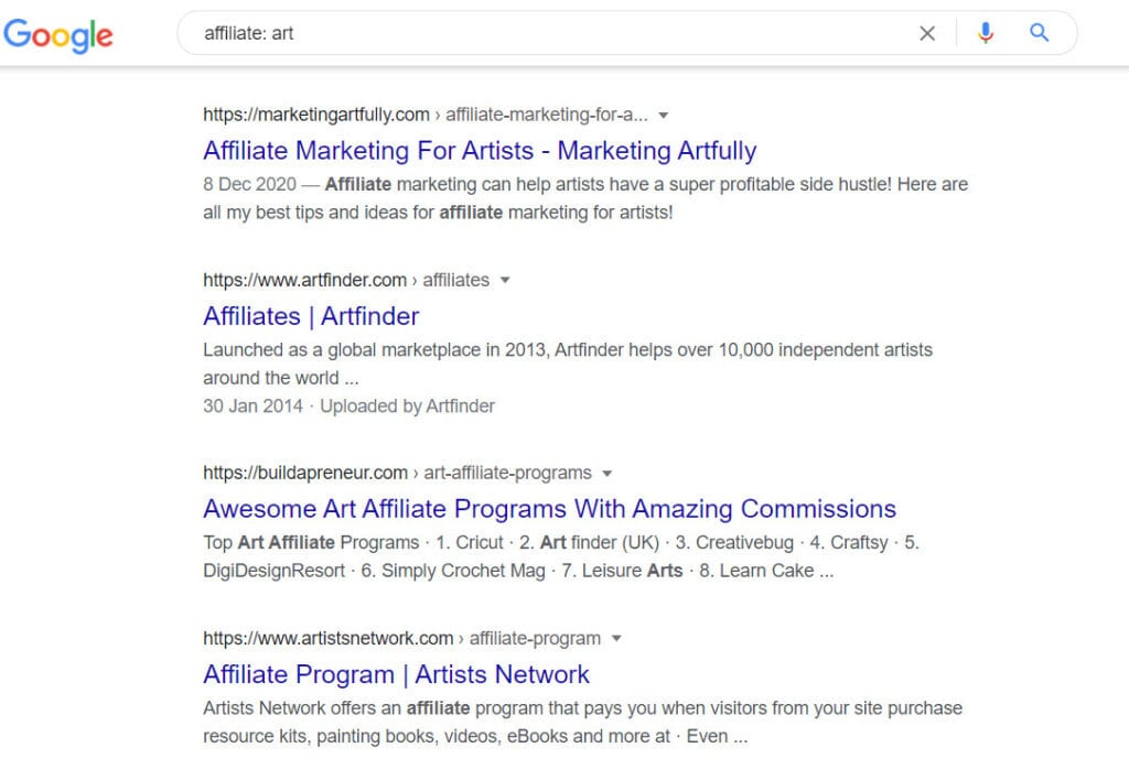 how to sell art online - affiliate
