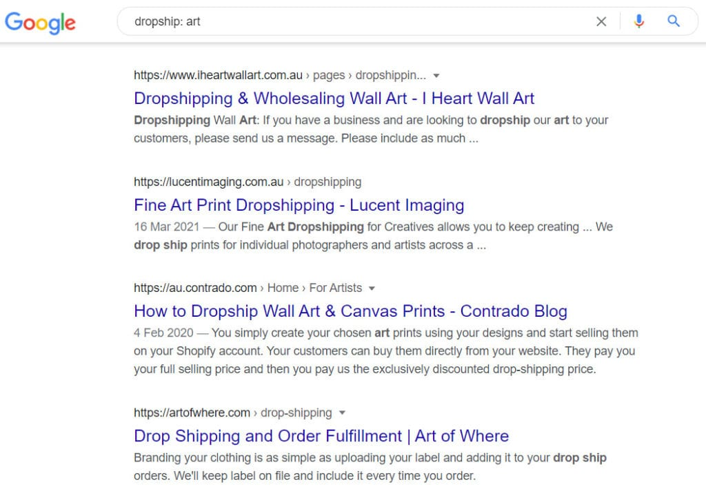 how to sell art online - dropship