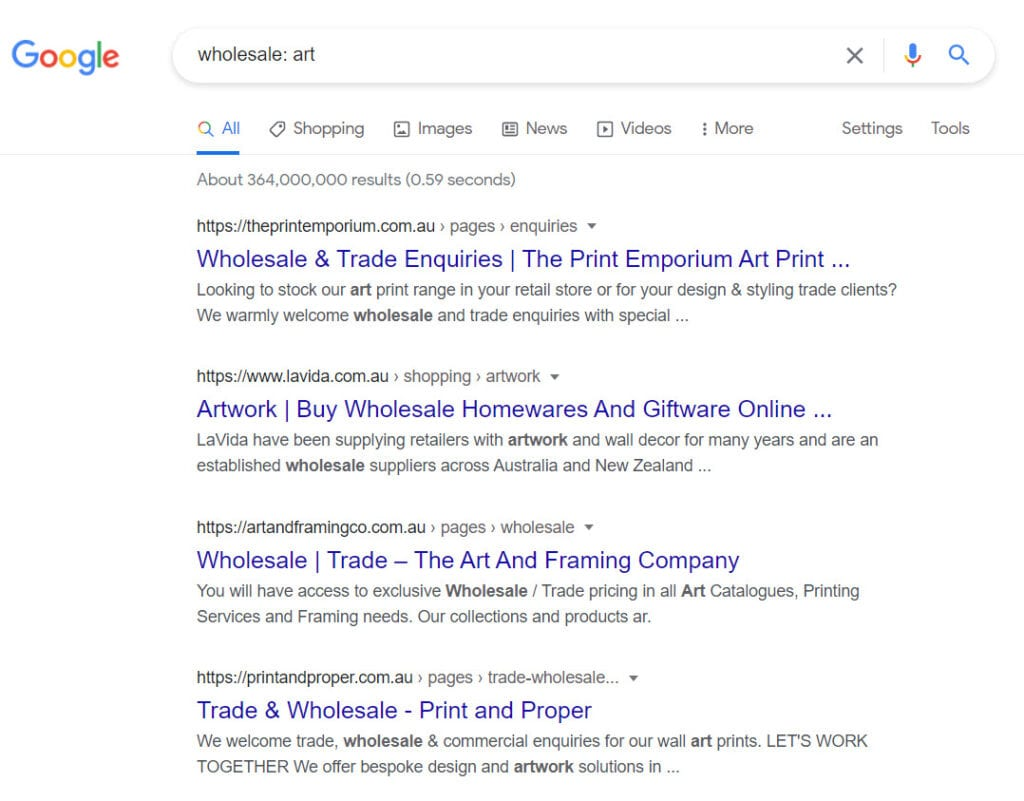 how to sell art online - wholesale