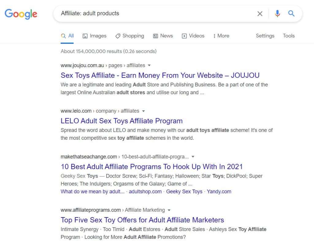 sell adult products online - affiliate programs