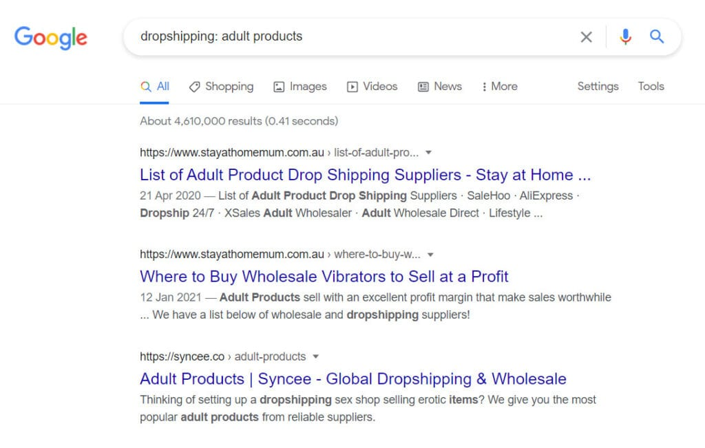 sell adult products online - dropshipping programs