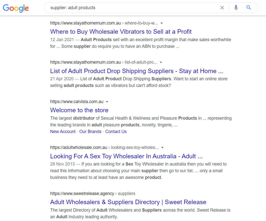 sell adult products online - suppliers