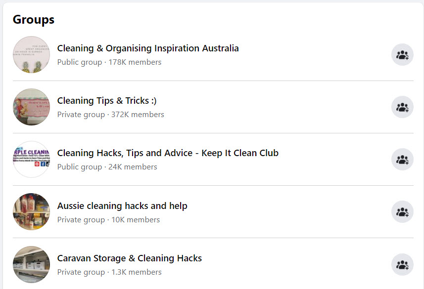 sell cleaning products online - FB