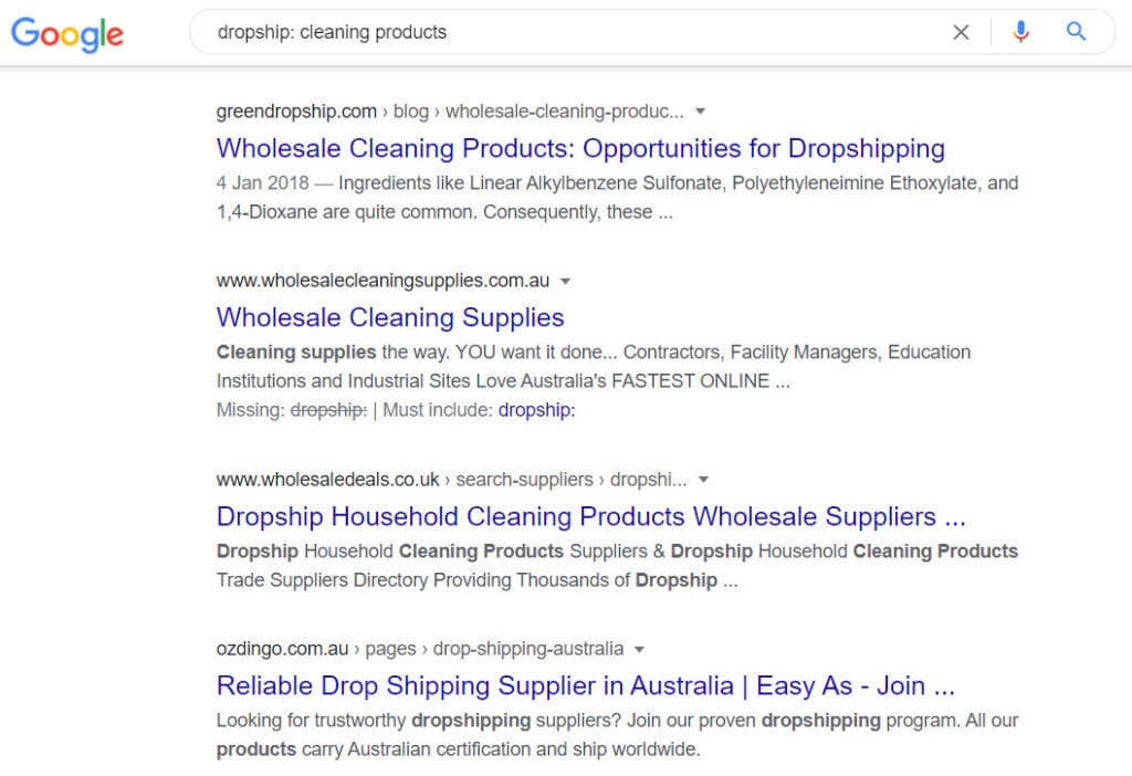 sell cleaning products online - dropship