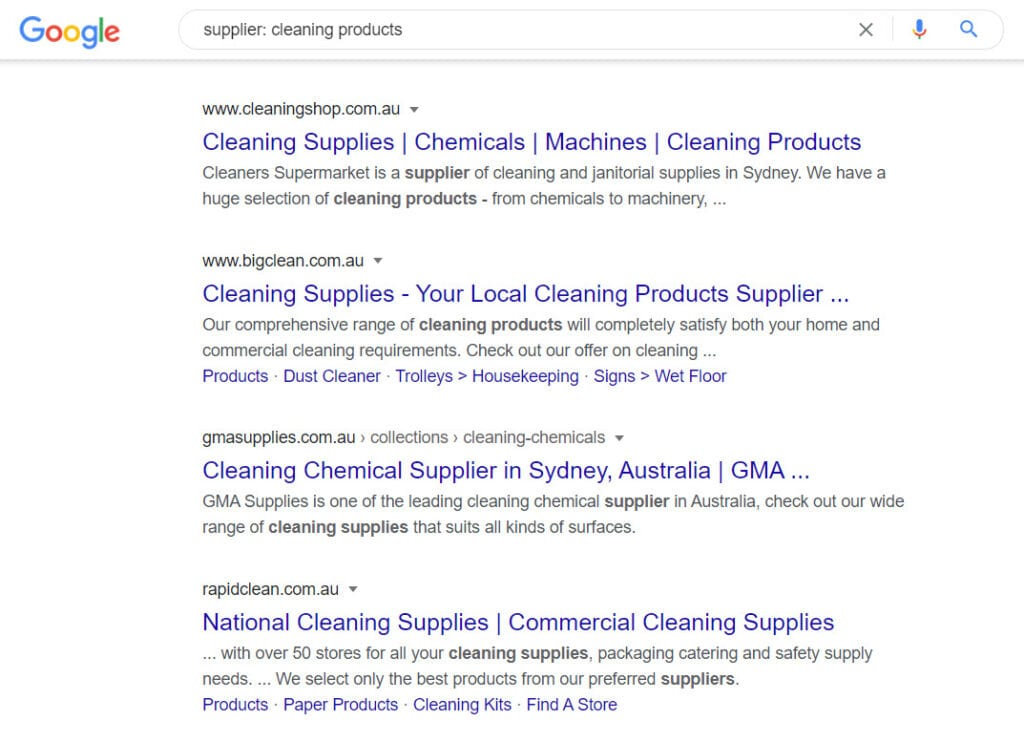 sell cleaning products online - supplier