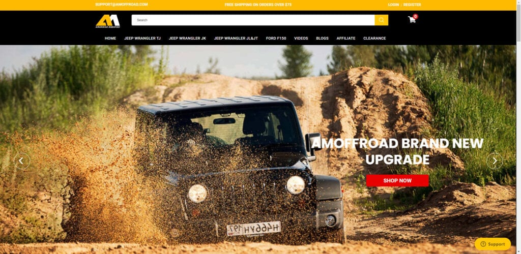 4x4 affiliate programs - AM Off-road home