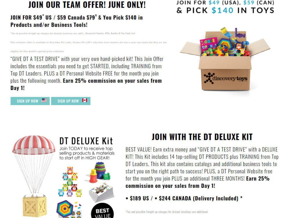 Discovery Toys MLM Review - Start kits