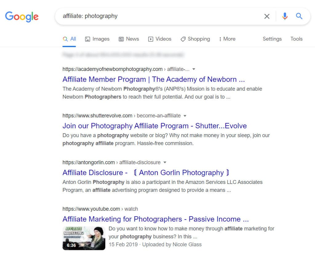 How To Monetize a Photography Blog - affiliate programs
