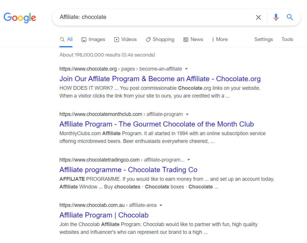 How to sell chocolate online - affiliate