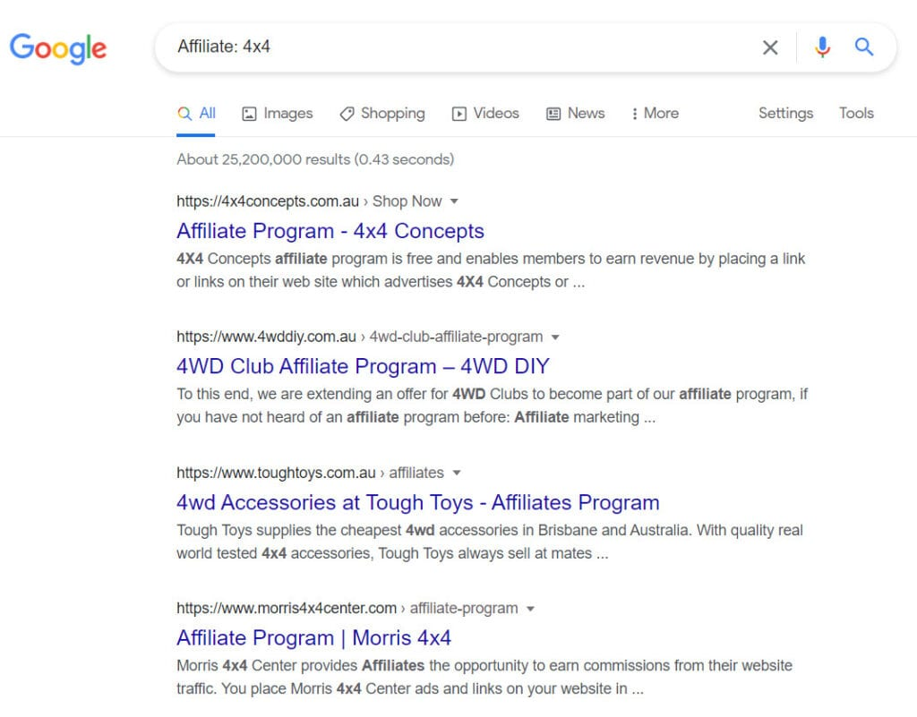 Sell 4x4 Parts Online - 4x4 affiliate programs