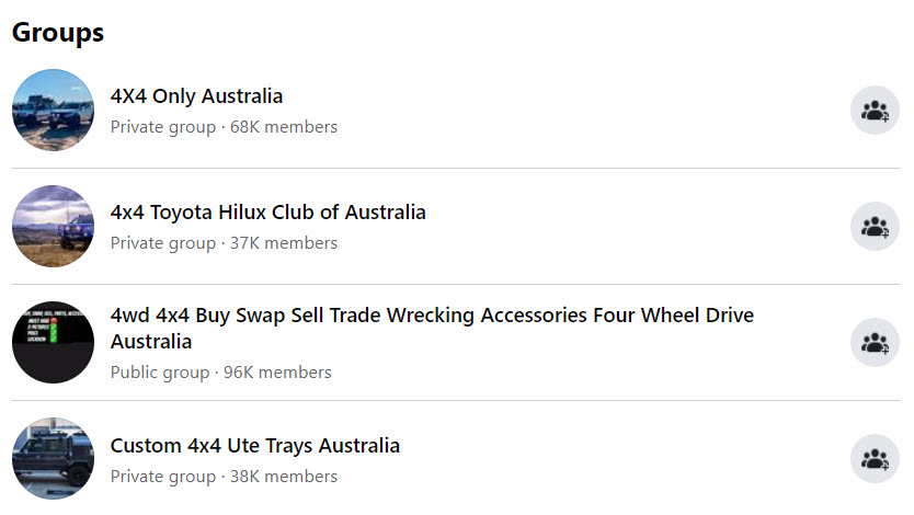 Sell 4x4 Parts Online - 4x4 fb groups