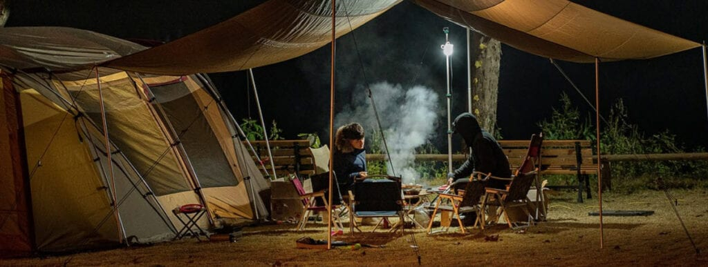 monetize a camping blog - couple camping