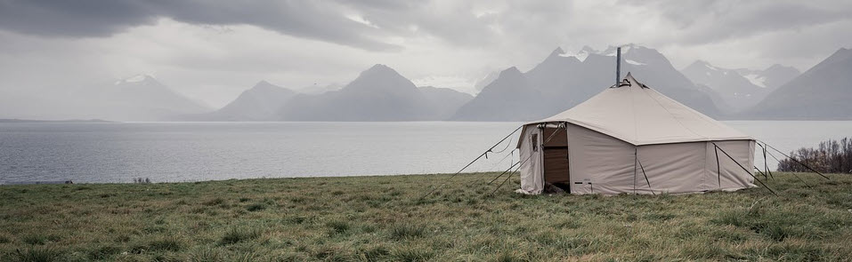 Monetize a camping blog - large tent