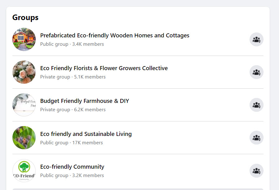 sell eco friendly products online - FB groups