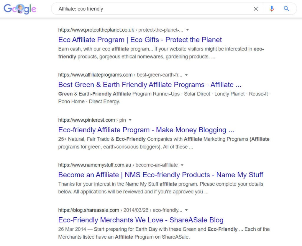 sell eco friendly products online - affiliate programs