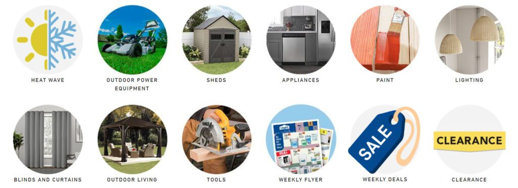 Canadian Affiliate Programs - Lowe's products