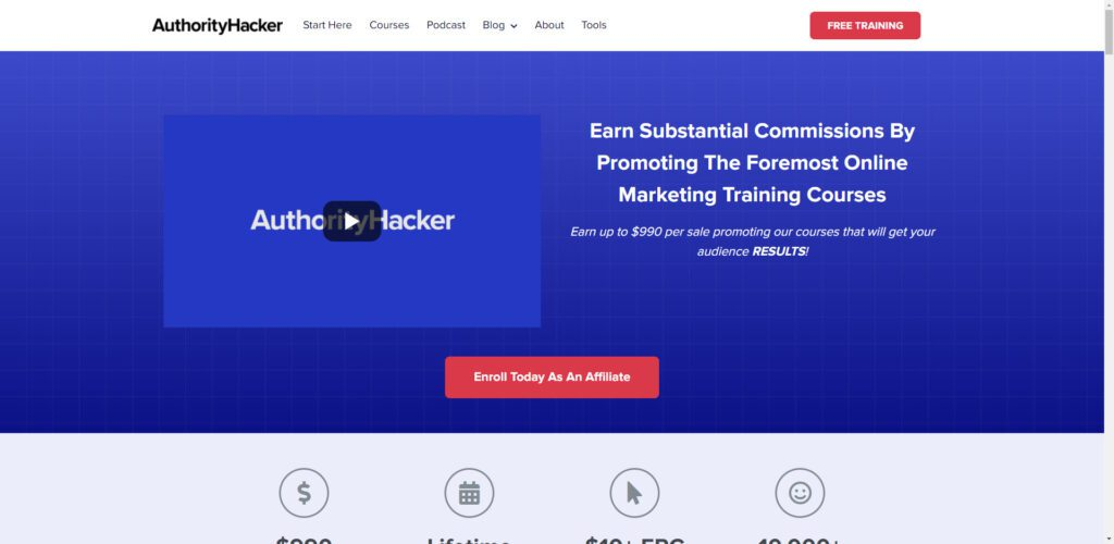 High ticket affiliate programs - Authority Hacker affiliate