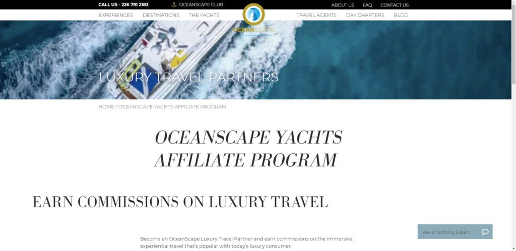 High ticket affiliate programs - Oceanscape Yachts affiliate