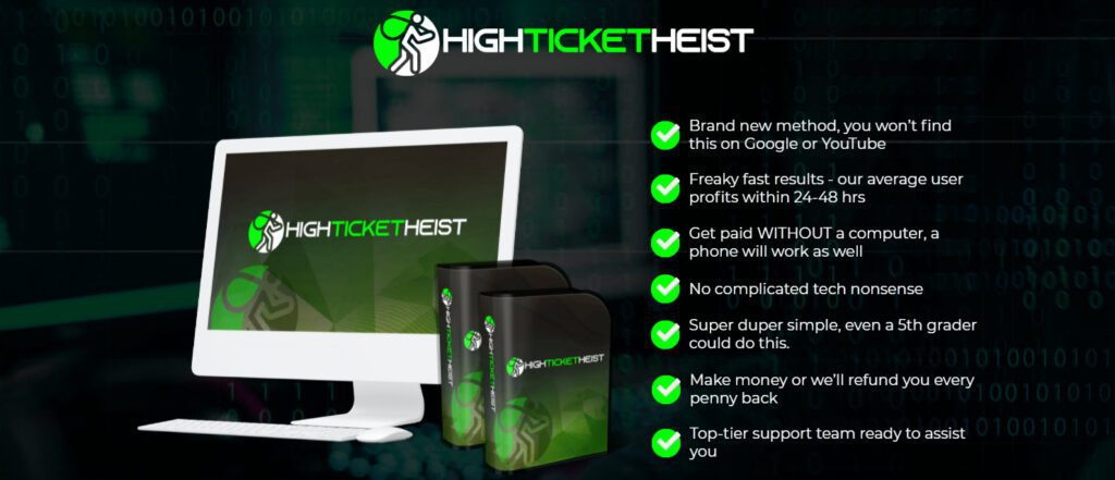 high ticket heist review - intro page