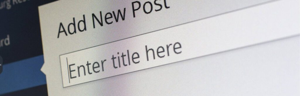 3 blog posts for beginners - new post screen